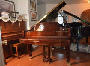 Kingsberg 158 Grand Piano Walnut Finish – $14,400.00